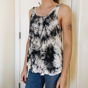 Ginger G Black and White Tie Dye Tank Top